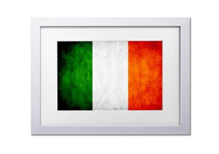 Living Colors Flags Of The World Irish A3 Framed Art Print - White ...