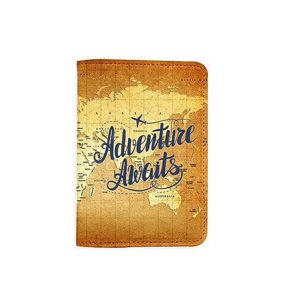 Amazon vintage old world map adventure awaits passport holder vintage old world map adventure awaits passport holder novelty leather passport cover passport wallet gumiabroncs Images
