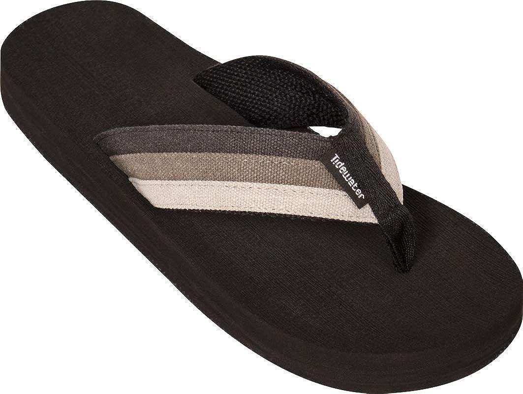 Tidewater Dockside Men/'s Flip-Flop Sandals Brown 9 M US