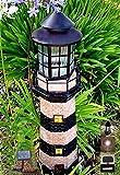 Garden Sunlight C5116G1 Solar Lighthouse Garden Decor , Green/Ivory, White LEDs, (35-Inch)