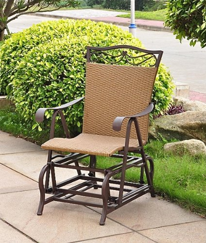 VALENCIA RESIN WICKER And STEEL PATIO/PORCH GLIDER   PATIO FURNITURE