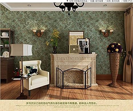Gfei Retro Tapete Dunkel Land Dekorative Wohnzimmer Schlafzimmer Tapeten Home Wandsticker C Amazon De Kuche Haushalt