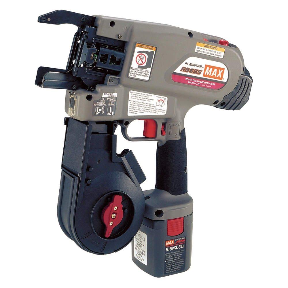 MAX RB655 Rebar Tying Tool Kit, 9.6V, 16 ga.: Rebar Cutters And ...