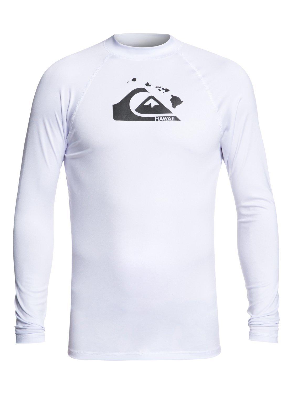 Quiksilver Young Mens Sportswear Mens Amphibian Mountain and Wave Loose Fit Rashguard UPF 50+