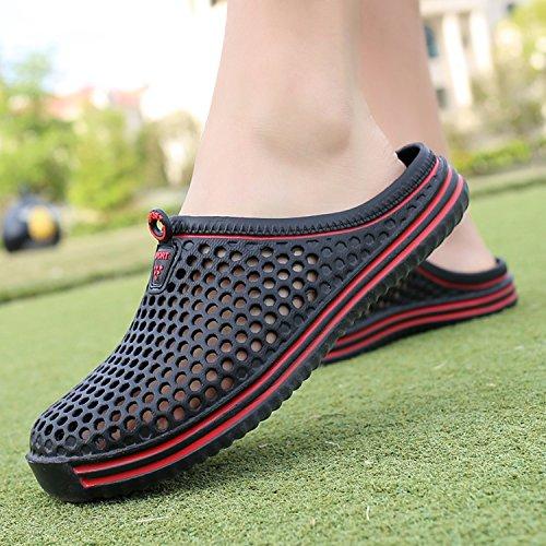 Negro y Cool de Sandalias Par Playa y Zapatos Flop Flip Transpirable Zapatos Cómodo Suave SPwCO