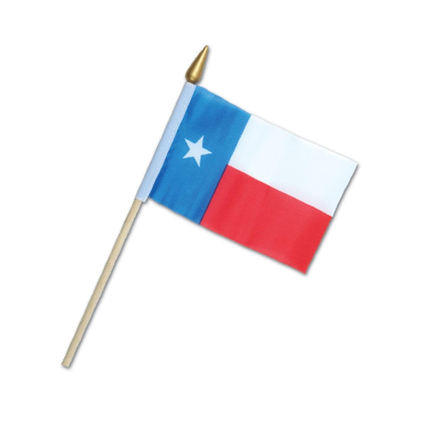 """Club Pack of 12 Western Themed Red, White and Blue Texas Flag Party Decorations 9.5"""""""