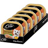 Cesar Premium Adult Wet Dog Food, Lamb & Vegetables, 6 Trays (6x100g)
