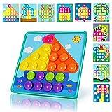 NextX Kids DIY Jigsaw Puzzle Game Button Art Pegboard Preschool Educational Creative Toys Gift for Toddler Boys & Girls