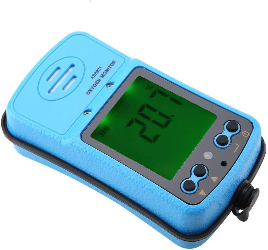Oxygen Detector US Plug 110V Smart Sensor AS8901 Handheld High Precision Portable Oxygen Alarm Detector Tester Meter