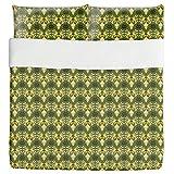 Indonesian Nature Duvet Bed Set 3 Piece Set Duvet Cover - 2 Pillow Shams - Luxury Microfiber, Soft, Breathable