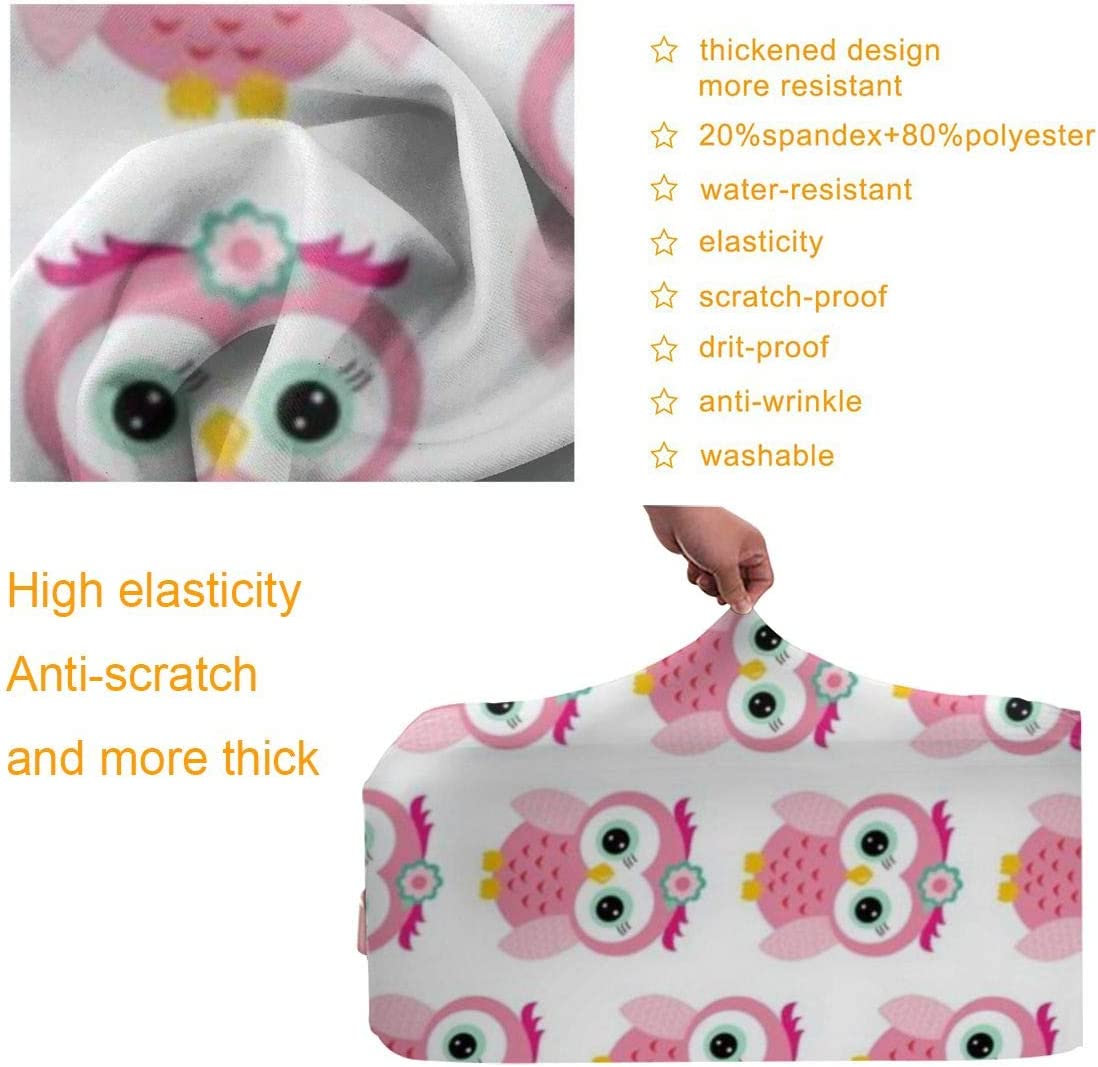 Pink Owls XL Luggage Covers Travel Luggage Cover Spandex Travel Luggage Cover Suitcase Protector Fits 18-32 Inch Luggage Case