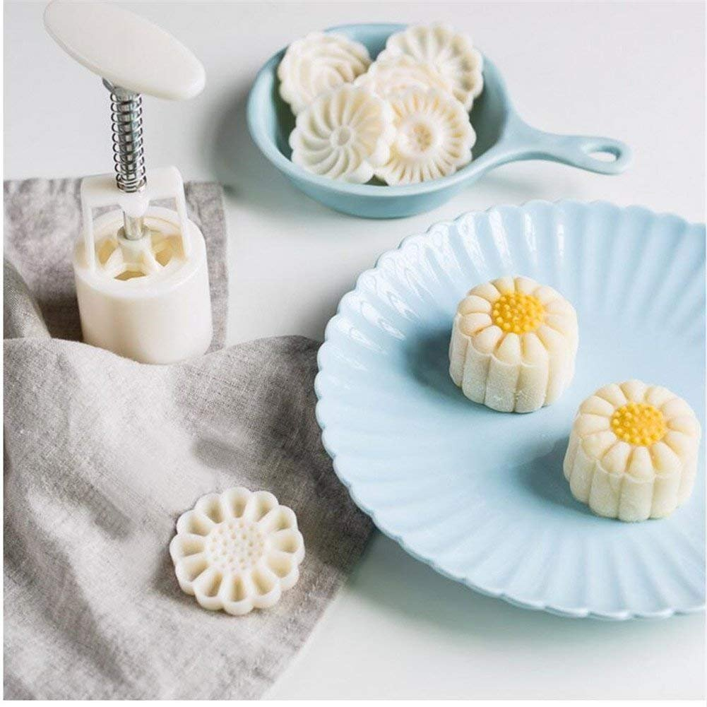 Round /& Triangle Hand Press Mould DIY Cake Baking Decoration Tool 13Pcs//Set Flower Mooncake Mold Cake Press Cookie Stamps Cutter Mid-Autumn Festival Bakeware Hand-Pressure Moon Cake Maker Mould