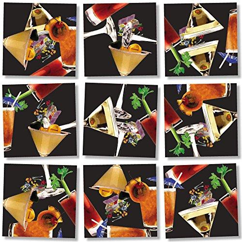 Dazzle Scramble Square Puzzles - B Dazzle Cocktails Scramble Squares 9 Piece Puzzle