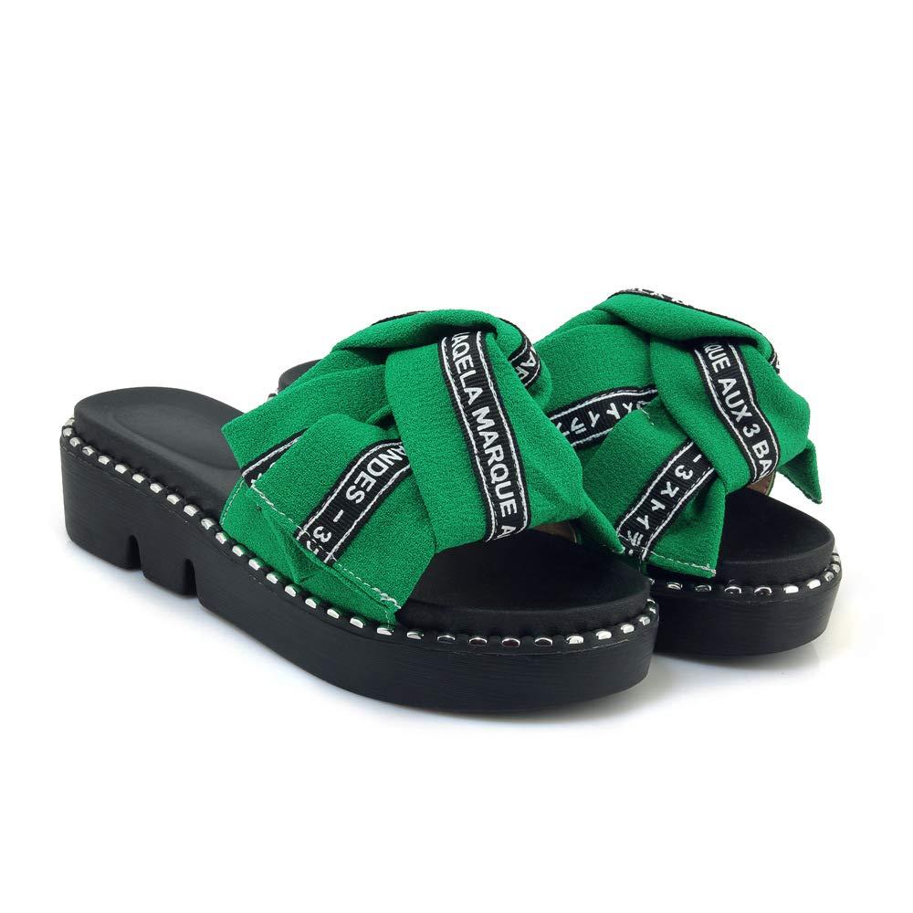Sandales Femmes, décontractées Vert pour Femmes, Chaussures 14717 à Talons, Pantoufles Vert 200b886 - reprogrammed.space