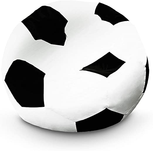 Lumaland Puf Pouf Pelota Almohada de Forma de Pelota de fútbol 110 ...