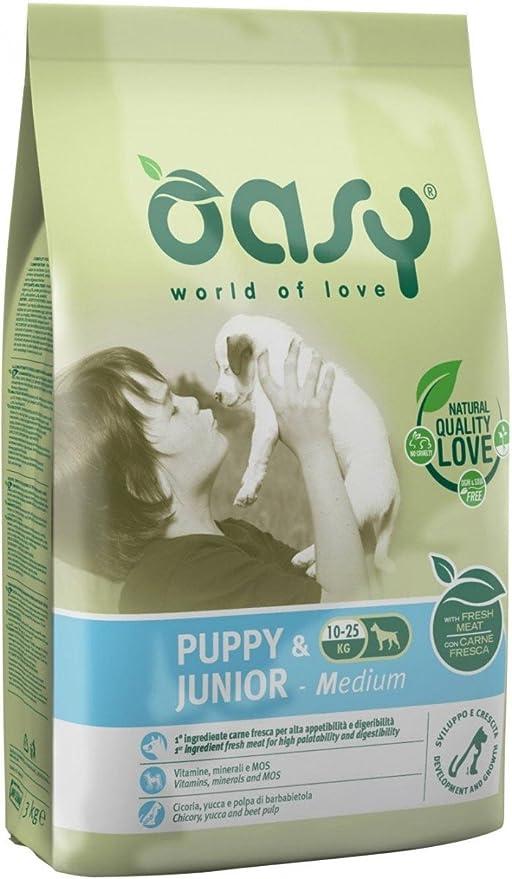 1 opinioni per Oasy Dry Dog- Puppy & Junior Medium 12 Kg.