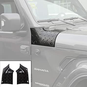 Sport Exterior Accessories Parts Black ABS Cowl Side Body Armor Corner Cover Outer Corner Guards for Jeep Wrangler JL 2018-2019 1 Pair