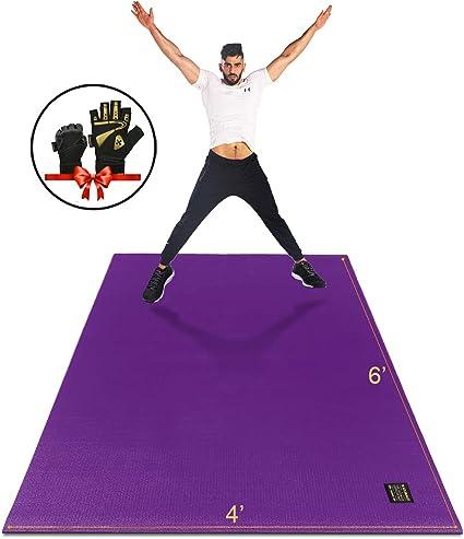 Amazon Com Gxmmat Large Exercise Mat 6 X4 X7mm Thick Workout