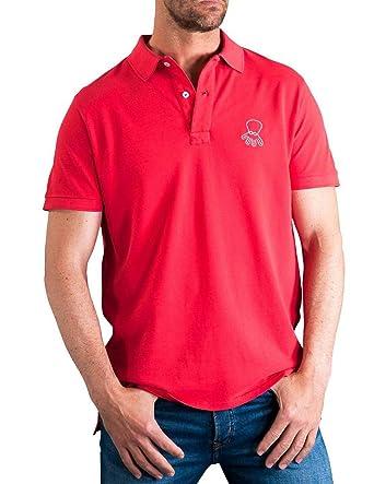EL PULPO Polo Logo Grande Rojo Hombre Small Rojo: Amazon.es: Ropa ...