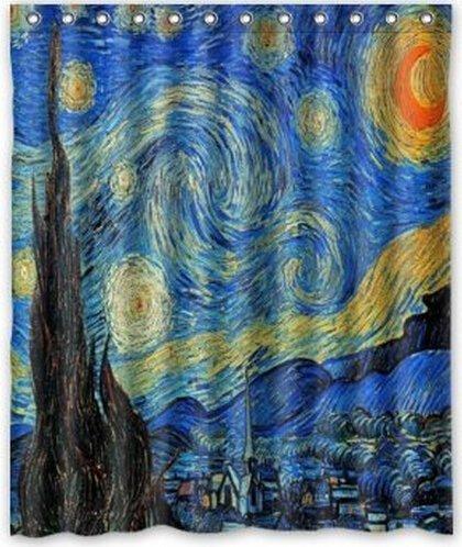 Noche estrellada de Van Gogh goliton baño cortina de ducha, cuarto ...