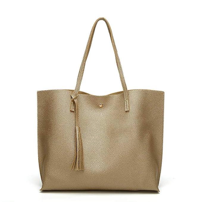 GHC Bolsos y Hombro Bolsos de bandolera para mujer Bolsos y carteras para mujer Diseñador Satchel Tote Bag (Color : Amarillo, Size : Onesize): Amazon.es: ...