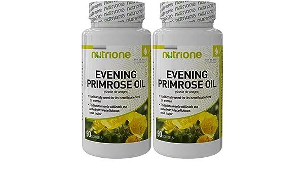 Aceite de onagra 500 mg 90 perlas - NOONA90. (Pack 2u.): Amazon.es: Salud y cuidado personal
