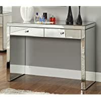 Rio Crystal Mirrored Console Hallway, Dressing Table - Mirror Furniture