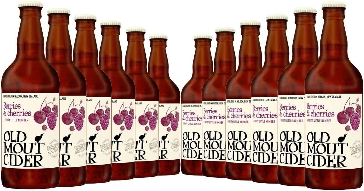 Old Mout Berries & Cherries Cider - 12 X 500ml