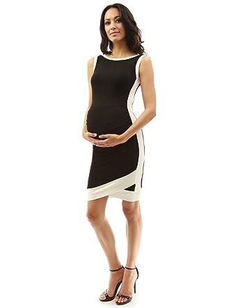 610c73b1e31d PattyBoutik Mama Boat Neck Sleeveless Tulip Maternity Dress at Amazon  Women's Clothing store: