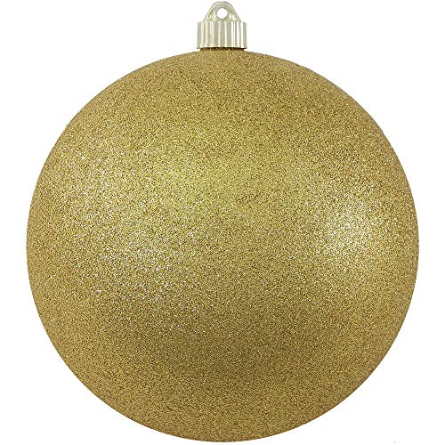 Christmas by Krebs CBK80654 Shatterproof Christmas Ball Ornament, 8-Inch, Gold Glitter