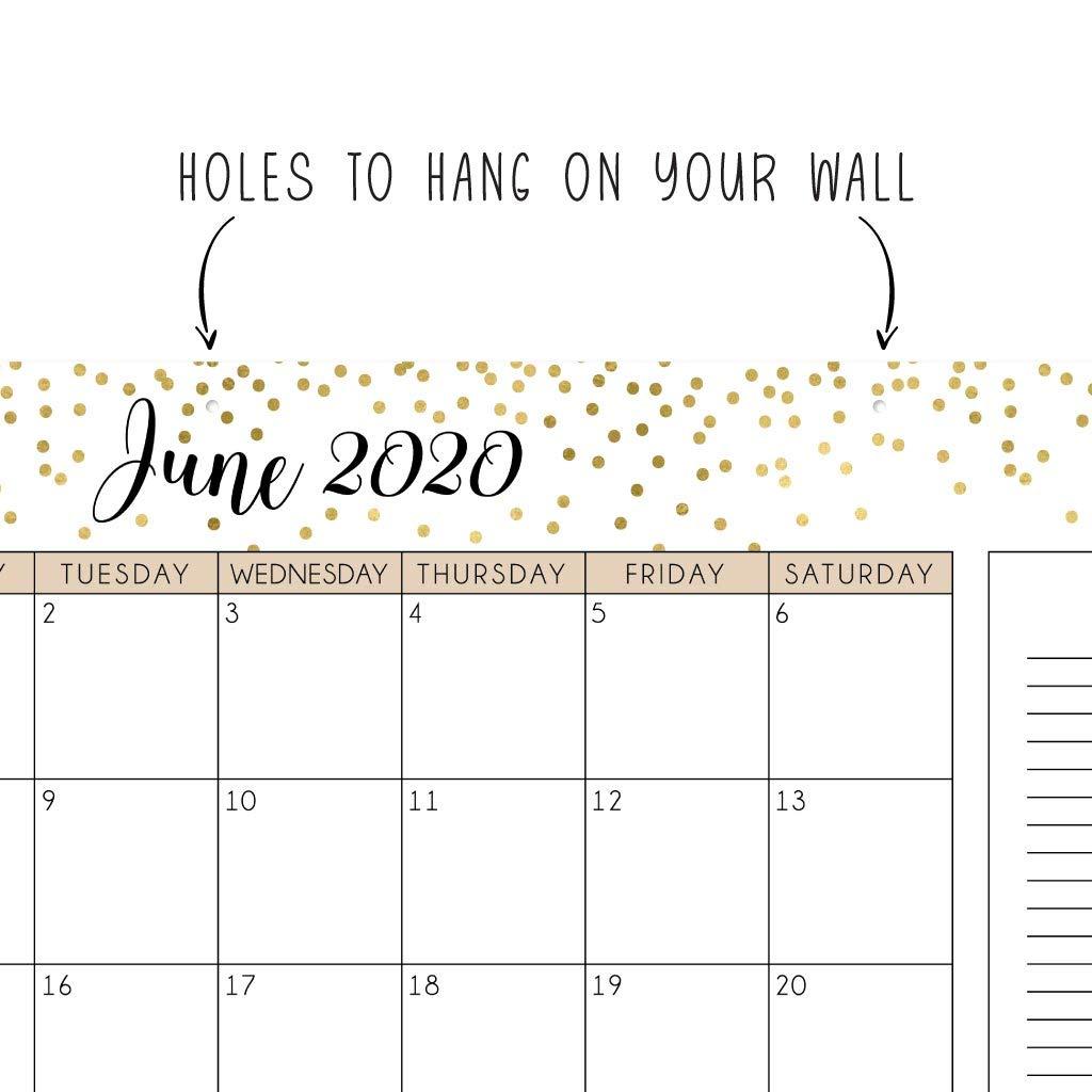 Amazon.com: Gold 2019-2020 - Planificador de escritorio o de ...