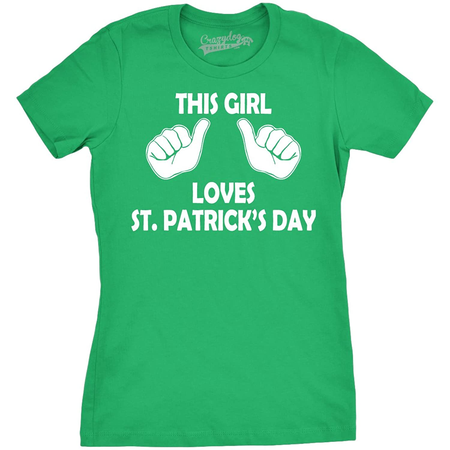 Amazon Crazy Dog T Shirts Womens This Girl Loves St Patricks
