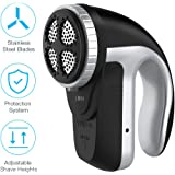 Clothes Lint Remover - Rechargeable Fabric Shaver with Adjustable Shave Height, Portable Electric Sweater Shaver, Quick & Safe Lint Shaver for Pill Fuzz Fluff Bobbles on All Clothes Curtains Carpets