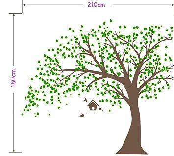 MAFENT Giant Baum Wand Aufkleber Mit Vögel Wandsticker für ...