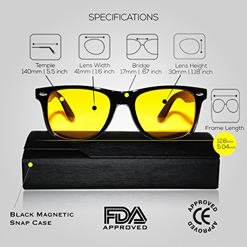 Aspectus Blue Light Blocking Glasses | Premium Gamer & Computer Eyewear | Anti-Blue Light Lenses for Deep Sleep & Relaxation | Eye Strain Relief Anti Glare Glasses | Computer Glasses for Men & Women by Aspectus (Image #1)