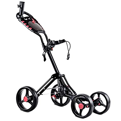 Amazon.com: Tangkula - Carrito de golf, 4 ruedas, plegable ...