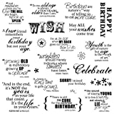#6: Fiskars 8x8 Inch Make A Wish Clear Stamps (01-005541)