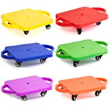 GSE Games & Sports Kids Gym Class Plastic Scooter Board with Safety Guard Handles by GSE (6 colors available)