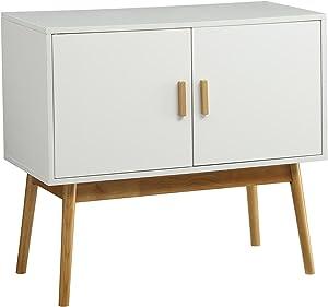 Convenience Concepts Oslo Storage Console, White / Woodgrain