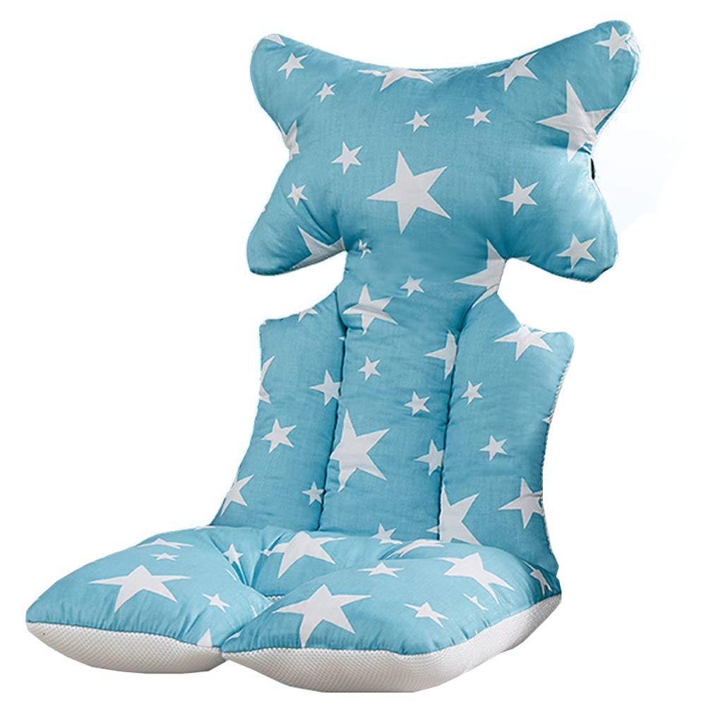 Luzoeo Bebé Cojín Reductor Universal de Algodón para Silla de Coche, Carro de Bebé Colchonetas Capazo Protector de Cuerpo para Coche (1# Azul) CuiYue