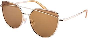 SIX - Damen Sonnenbrille, Sonnenschutz, Cat Eye, braun, goldfarben (324-335)