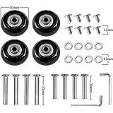 キャスター スーツケース車輪 部品 (直径40mm 幅18mm) 静音シリーズ用交換タイヤキット 交換車輪 スーツケース・ショッピングカート・キャリーボックスなどの車輪補修用 キャスター取替え DIY 修理 交換 4個セット