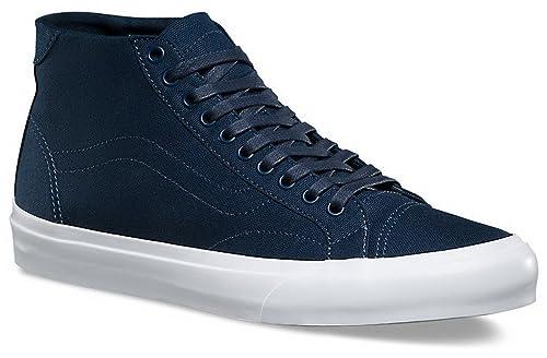 25c523a86d Vans Men s Court Mid (Canvas) Fashion-Sneakers Vn-a34a6 Dress Blues Medium