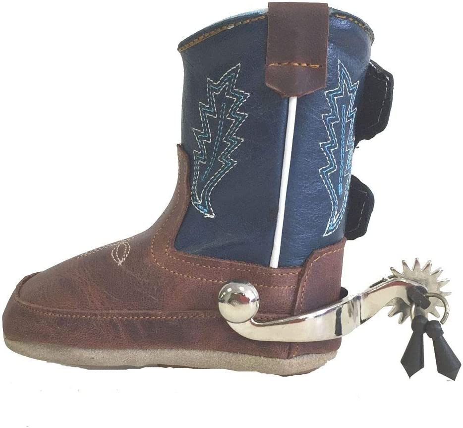AJ Tack Wholesale Baby Toddler Western Spurs with Jingle Bobs Little Cowboys 16pt Silver Rowels