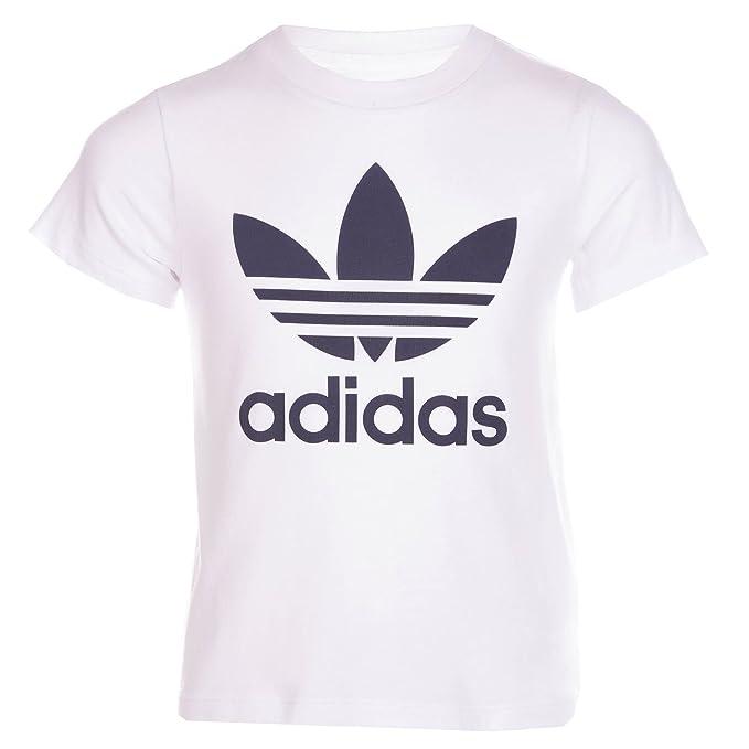 Camiseta adidas - Trefoil blanco talla: 129 a 134 cm altura - de 8 a 9 años: Amazon.es: Ropa y accesorios