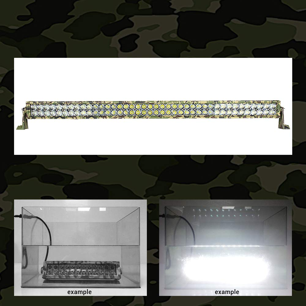 Army Maple leaf Camouflage LED Light Bar L-MIND 31.5 Inch 180W Military Spot Flood Combo Led Bar Double Row Cree 2525 Chips Best Camo LED Driving Light Off Road Lights IP67 Waterproof