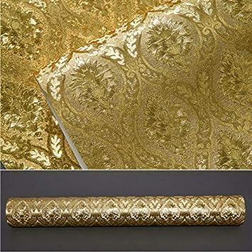 Amazoncom Sssxka Luxury Classic Gold Wallpaper Roll