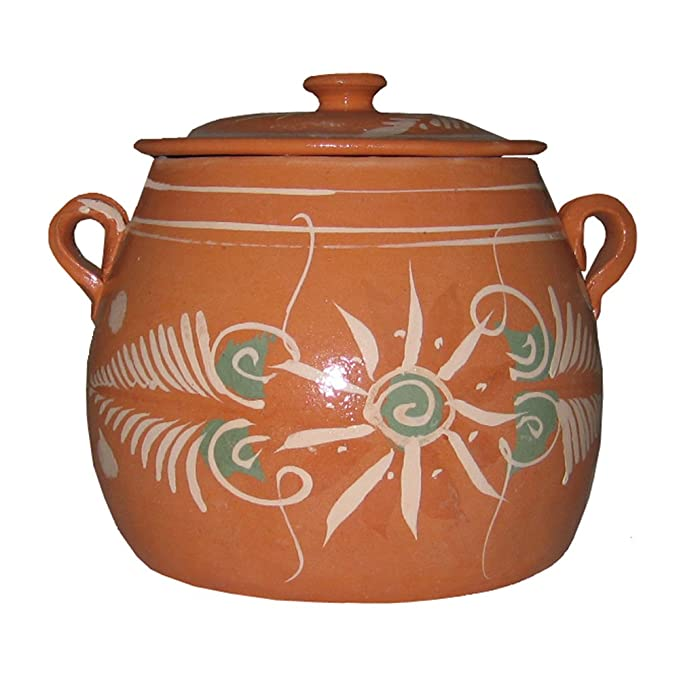 Amazon.com: La Mexicana Olla De Barro Pot, 6-Quart: Mexican Clay Pots: Kitchen & Dining