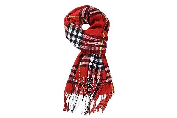 f744ae26b Red Black Christmas Buffalo Checkers Plaids Scarf,Unisex Classic Luxurious  Soft Cashmere Feel Winter Plaid