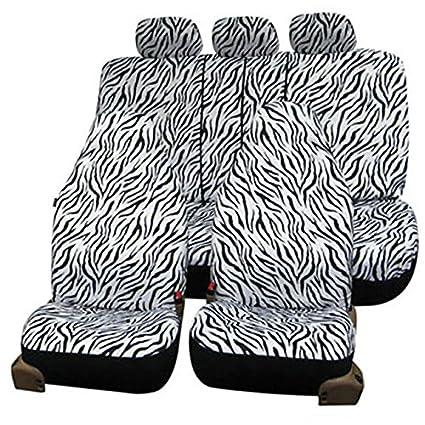Amazon.com: FH-FB121115 Zebra Prints Car Seat Covers, Airbag ready ...
